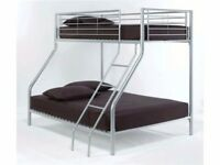 LIMITED TIME OFFER -- Triple Metal Bunk Bed and Mattress - SAME/NEXT DAY DELIVERY!