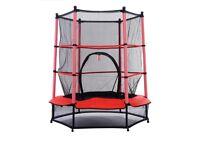 "Brand New 55"" kids trampoline with safety net"