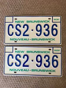 1987 Vintage New Brunswick Automobile Plate-Never Used!