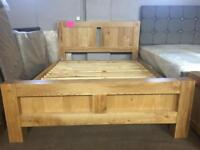 Ex-display/returns**Chunky solid oak 5ft bed frame ONLY £350