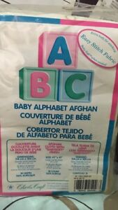 Baby afghan crossstitch material