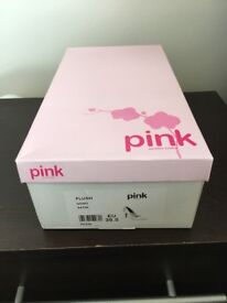 Brand new never worn Pink by Paradox ivory bridal shoes 5.5