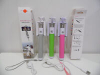wireless selfie stick various colours - all brand new in original packing