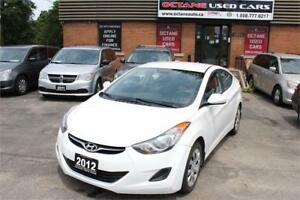 2012 Hyundai Elantra GL - Accident Free - Beautiful White