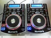 Pair of numark ndx 400's cd/USB players with numark M4 mixer great condition