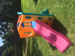 Little Tykes play equipment with slide