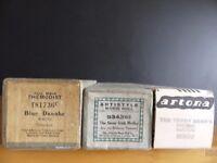 PIANOLA MUSIC ROLLS - Blue Danube, Teddy Bear's Picnic, Savoy Irish Medley