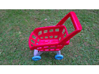 Kids Childrens Shopping Trolley Cart Role