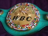W BC WBA IBF IBO WBO MAYWEATHER BOXING BELT CONOR MCGREGOR