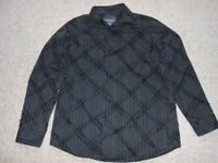 Debenhams Shirt 11-12 years black grey blue stripes