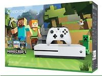 Microsoft XBOX S - 500GB White Console - Minecraft Favorites Bundle