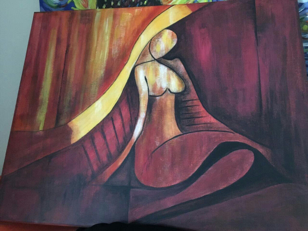"""Abstract painting """"The Woman"""""""