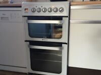 Hotpoint 50cm Fan assisted Double Oven 14 months old IMMACULATE
