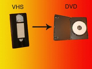 We convert to DVD all VCR-VHS family videotapes PAL/Secam NTSC