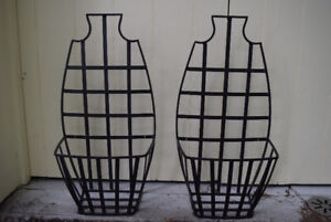 REDUCED: Hanging Wrought Iron Planters