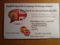 English Spanish Language exchange