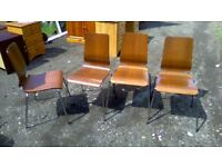 Four matching retro dining/reception chairs