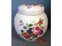 vintage floral sadler ginger jar