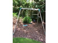 Childrens Wooden Rope Play Swing and Activity Bar
