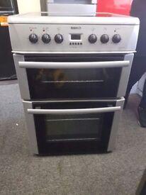 Silver Beko Electric Cooker (60cm) (6 Month Warranty)