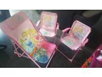 Disney princess garden chairs