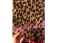 Louis Vuitton leopard scarf