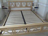 KING SIZE WOOD(rubberwood) bed frame