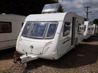 2010 Swift Challenger 570 Fixed Bed End Washroom Caravan with Motor Mover