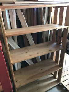 Solid Wood Shelving for Storage