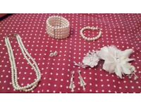Wedding jewellery and hair accessory
