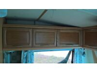 Hobby Caravan Front end fixed bed area locker boxes/cupboards camper conversion