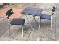 Ikea garden furniture 2 chairs folding table metal and plastic