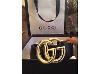 leather black gg belt gucci