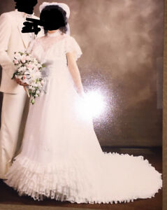 Used Wedding Dress and Hat with Veil