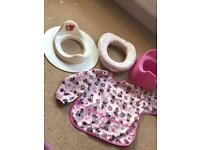 Potty training bundle - Minnie Mouse - pink girls potty & toilet seats