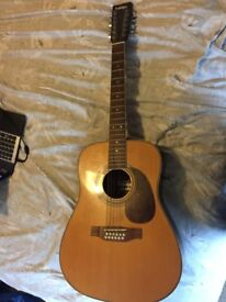 Vintage 12 String acoustic guitar
