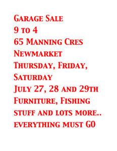 Garage Sale everything must GO