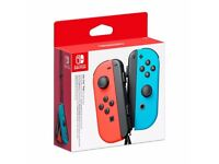 Brand New Nintendo Switch Neon Red/Blue Joy Con Pair Controllers - Sealed
