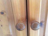 Small pine wardrobe