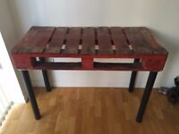 Home crafted crate table