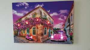 LED-Lighted Up Canvas Wall Art