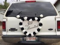 $85 limo-limousine any where in the city (wedding from 110/h)