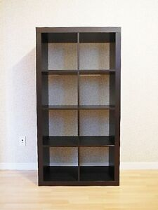 Ikea EXPEDIT Bookcase Shelving Unit - Black Brown - 2x4
