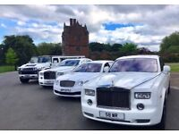 WEDDING CHAUFFEUR HIRE/ PROMS **LUXURY Limos & Cars** Airport Transfers Also AVAILABLE