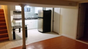 2 bedroom basement apartment for rent, Scarborough