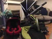 Silver cross surf pushchair car seat and colour packs bargain
