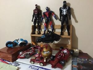 "Marvel spiderman 12"" figures  Ironman figures and marvel cars"