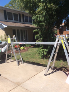 Mastercraft 21 ft. ladder and scaffold; like new