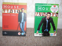 *Reduced* 2 x Box Sets, HOUSE MD DVD, Season 3 and 4, with Hugh Laurie