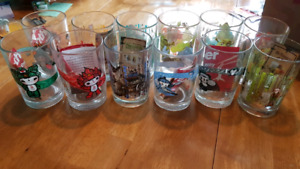 McDonald's collectable Shrek and Beijing glasses